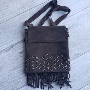 BOHO fringe suede crossbody bag